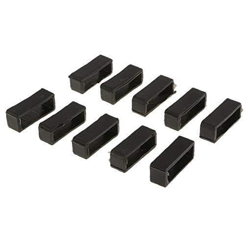 22 mm Mira la correa de retención de goma Negro aro Loop hebilla de seguridad del sostenedor del anillo de retención de 10PCS compatibles