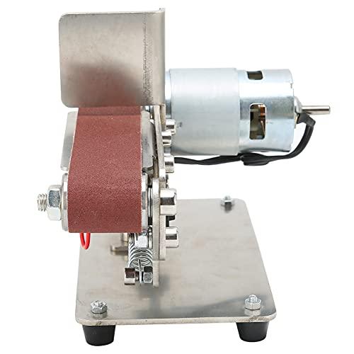 Lijadora De Banda, Amoladora Pulidora Ajustable Mini AC 110-240V Durable 9000 RPM Velocidad Del Motor Para Bricolaje(775 (100 W))