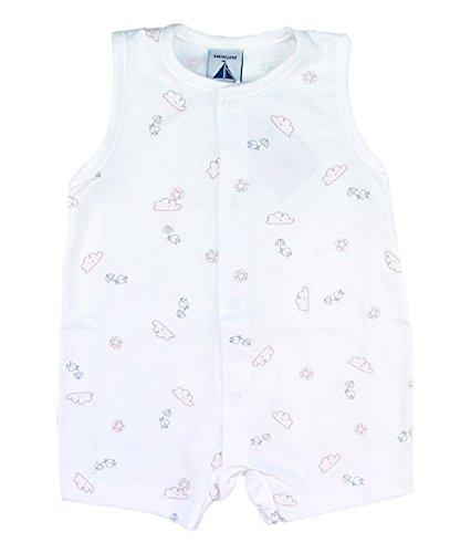 Pijama Nubes y Pollitos Abertura Delantera (0 Meses, Rosa)