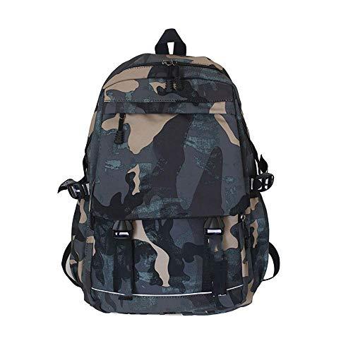 N/D Mochila De Camuflaje Casual Resistente Al Agua Y Duradero Mochila Backpack para El Laptop para Ordenador del Negocio Trabajo Diario Azul