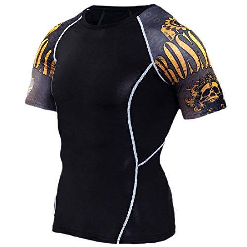 HANA+DORA Compression Colored Short Sleeve Mens Best Fit T-Shirt for Men T Shirt 3 XXS