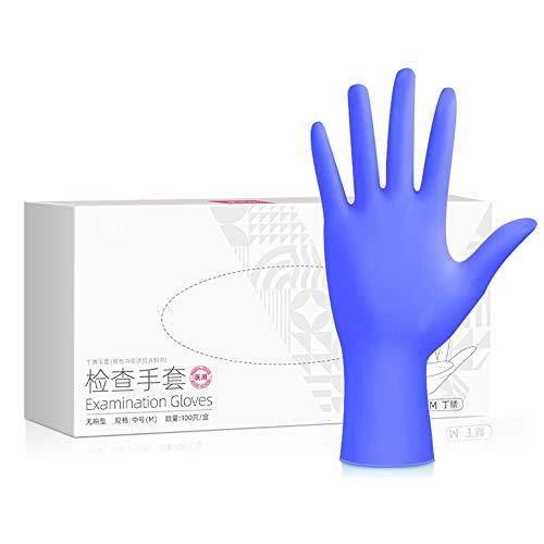 P/h/o/t/o Erste-Hilfe-Handschuhe, Puderfrei/Verdickte/Durable/Ärztliche Untersuchung Handschuhe for Linke Und Rechte Hand/Hygiene Handschuhe Geeignet for Food Service/Reinigung/Boxed 100 / (small Me