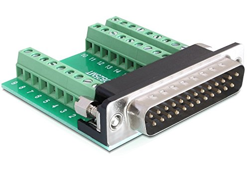 DeLock Adapter Sub-D 25-polig Stecker zu Terminalblock 27-polig