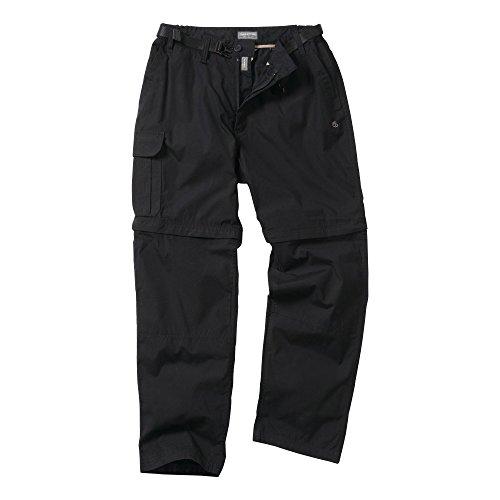 Craghoppers - Pantalones Pantalones Convertibles Modelo Kiwi para Hombre (Cintura 76cm x L) (Negro)