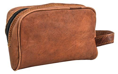 Gusti Leder nature ''Piet'' borsa per cosmetici euti beauty case da viaggio stile elegante pratico robusto pelle di capra vintage unisex marrone A81