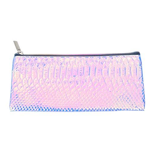 TENDYCOCO Paillettes Trousse de Maquillage échelle de Poisson Texture Brillant Pochette cosmétique Trousse de Toilette pour Les Vacances Camping Voyage