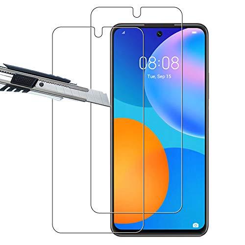THILIVE[2 Unidades]Huawei P smart 2021/Honor 10X Lite Protector de Pantalla,Vidrio Cristal Templado 9H Dureza,HD-display,Anti-Huellas,Anti-Burbujas