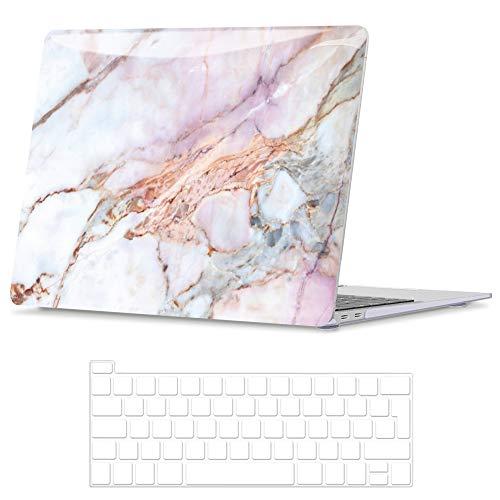 Belk Hulle Kompatibel mit MacBook Pro 13 Zoll 2020 2016 mitohne Touch Bar A2338 M1 A2289 A2251 A2159 A1989 A1706 A1708 Glattes Muster Hartschale Schutzhulle Case Tastaturschutz Marmor