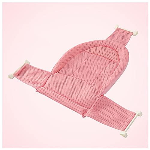 Recién Nacido Asiento Baño del Bebé Accesorios De Baño De Soporte del Asiento,Malla De Ducha Bañera De Recién Nacido Antideslizante Ajustable Y Cómodo para Bebés (Color : Pink)