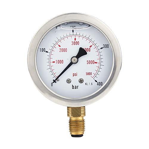 Hydraulic Hose Test Kit, Hose Hydraulic Pressure Gauge kit, Point Coupling M16x2-BSP1/4 + 0~400 BAR / 6000PSI Gauge+ 1.5m Hose