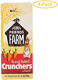 SupremePetfoods Tiny Friends Farm Russel Rabbit Crunchers with Carrot 4.2 oz - Pack of 4