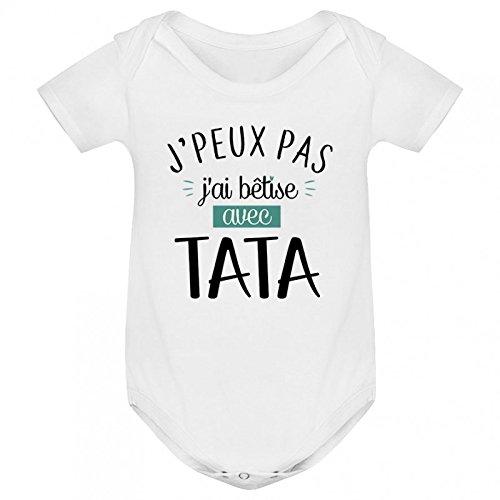 T-Shirt b/éb/é t/âta Dit Que Je suis Le Plus Beau Inconnu
