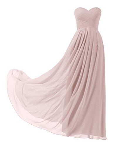 Remedios A-Linie Chiffon Brautjungfernkleider ballkleid Abendkleider Lang, 83 Staubige Rosa,42