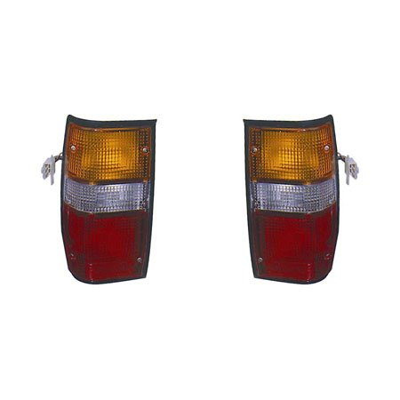 For Mitsubishi Pickup 87-1996For Dodge Ram-Pickup 50 87-1993 Tail Light Assembly Pair Driver and Passenger Side Black