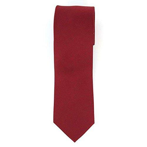 Cotton Park - Cravate 100% soie rouge - Homme