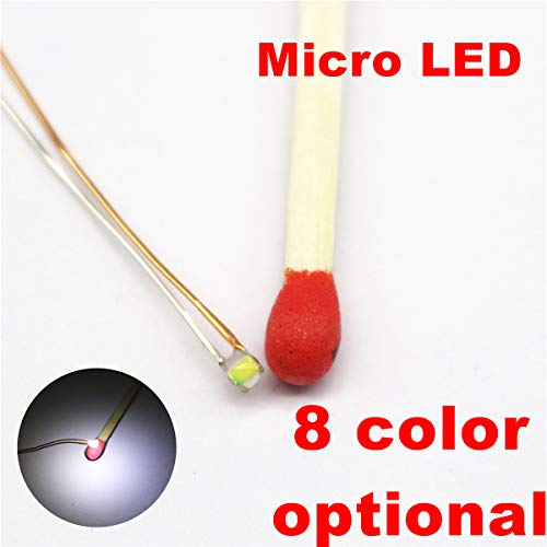25 pcs Pre-soldered Micro Litz Wired Leads Pure White SMD Led 0603 ((Warm White Red Green Yellow Blue Pink UV Available))