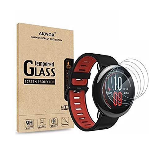 AKWOX [4 Unidades Protector de Pantalla Compatible con Xiaomi Smartwatch, [9H Dureza]...