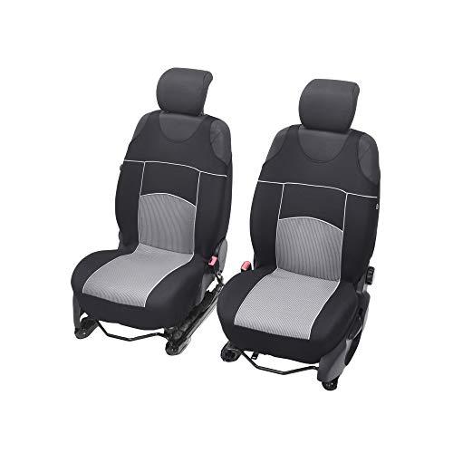 Universelle Sitzbezüge Tuning EXTRA kompatibel mit Ford C-Max Sitzauflage Überzüge Schonbezüge Vordersitze GRAU
