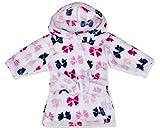 Hudson Baby Unisex Baby Plush Robe, Bows, 0-9 months, 0-9 Months