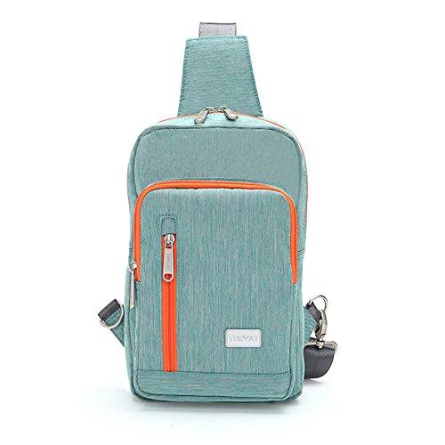 Sac de Poitrine Nylon tissu voyage respirant portergrande capacité hommes dames sacs Messenger Bag Sling bag , green