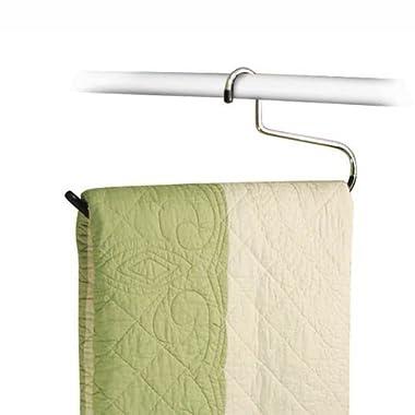 Stock Your Home Set of 6 Vinyl Heavy Duty Comforter Blanket Hangers for Blanket, Quilt, Comforter, Bed Sheet, Table Cloth, Towel, Rug & Sleeping Bag Closet Storage Organization – 40 Pound Capacity