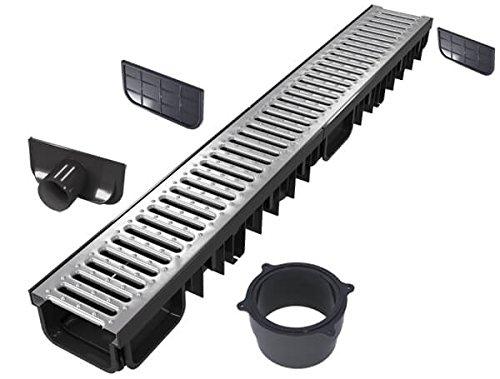'S'lon Entwässerungsrinne Set 6 Meter | Verzinkt Klasse B125 | Typ 50 (Entwässerungsrinnen)