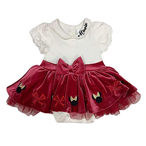 Disney Minnie Mouse Holiday Bodysuit with Skirt for Baby, Size 12-18 Months