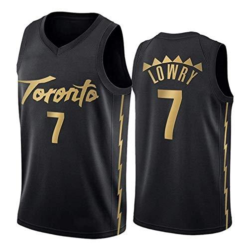 TTBBZ NBA Jersey Toronto Raptors 7# Lowry 43# Siakam 23# Vanvleet Sportswear Camisetas de Malla Transpirable para Hombres
