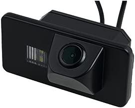 Misayaee Rear View Back Up Reverse Parking Camera in License Plate Lighting Night Version (NTSC) for 320I/328I/335I/520LI/530I/535LI/X1/X3/X5/X6/3/5/7 Series 2010-2014
