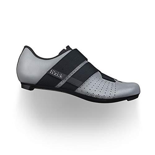 Fizik Tempo Powerstrap R5, Zapatillas de Ciclismo Unisex, Unisex Adulto Hombre, Zapatillas de Ciclismo, Reflectante Gris Negro, 43.5 M EU