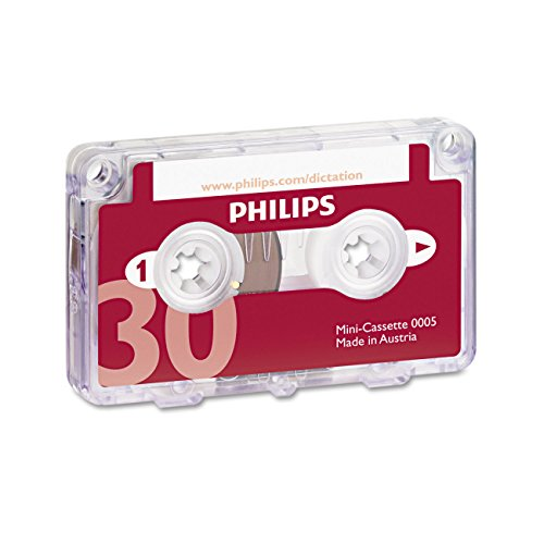 Philips LFH0005 Mini-Kassette 30 Min. (2 x 15 Min), 10 Stück