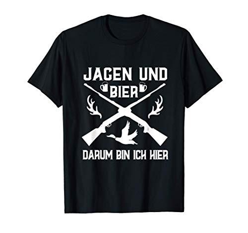 Jagen und Bier Weidmann Heil Reh Hunter Weidmannsheil Hunt T-Shirt