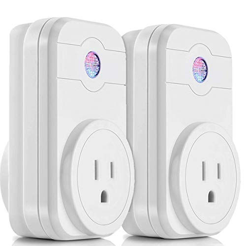 WiFi Smart Plug 2 Packs - Untify Mini Smart Outlet Work with Amazon Alexa & Google Home, Remote Control by Smart Phone with Timer from Anywhere, No Hub Required
