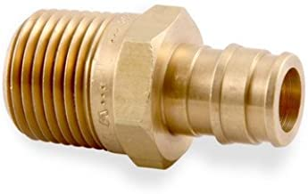 "3//4/"" PEX x 1//2/"" Male NPT Threaded Adapters 25 Brass Crimp Fittings"