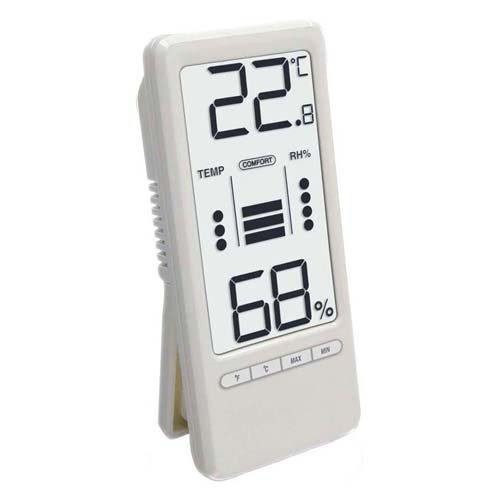 Temperaturstation WS 9119 mit Innentemperatur- und Innenluftfeuchteanzeige sowie Wohlfühlindikator