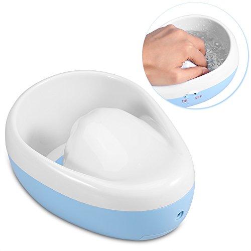 Bol de massage à bulles d'ongles pour spa Décapant pour vernis à ongles, outil de manucure adoucissant pour peau morte