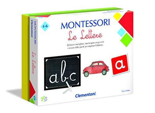 Clementoni 16098, Montessori, Le Lettere, Made in Italy, Gioco Montessori 3 anni, Gioco Educativo Metodo Montessoriano (Versione in Italiano), Gioco per Imparare le Lettere