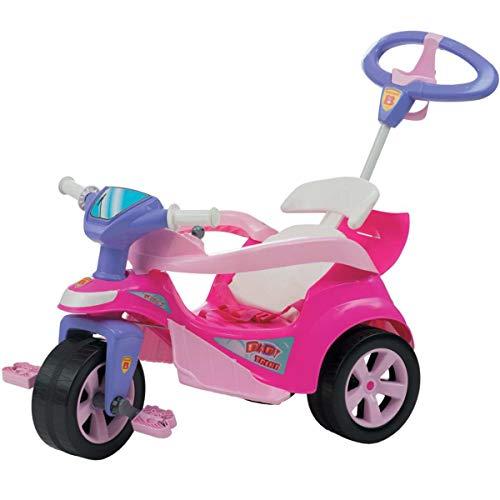 Veiculo Para Bebe Baby Trike Evolution Rosa Biemme Rosa