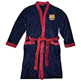 FCB Albornoz Oficial del FC Barcelona (La Liga) para Adultos, Unisex, GOWN22 Barca, Azul Marino, X-Large