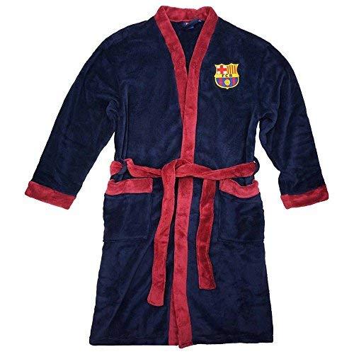 Albornoz oficial del FC Barcelona (La Liga) para adultos, Unisex, GOWN22 BARCA, azul marino, X-Large