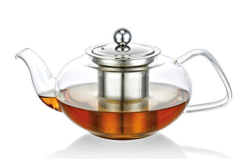 Clear Glass Heat Resistant Infuser Teapot TEA 1000ml