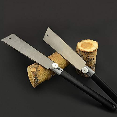 XiaoOu Scie à main double bord style Pull Saw dents par précision pour pommes de pin outils de travail de bois Taille unique Under 100mm169