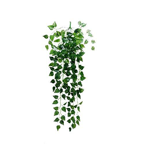 FANJUANMIN Verde Artificiale Falso pensili della Vite delle Foglie Garland Home Decor Rattan Artificiale Natale Decorazione Domestica Wall Garden (Color : Verde, Size : A)