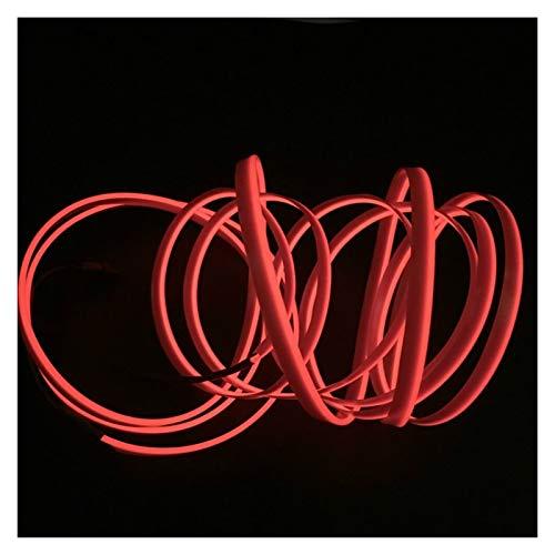 1 m/2 m/3 metros/5 m L E D luces interiores decoración luz ambiental coche 12 V flexible neón cable de alambre de accesorios para interior (color 2 metros)