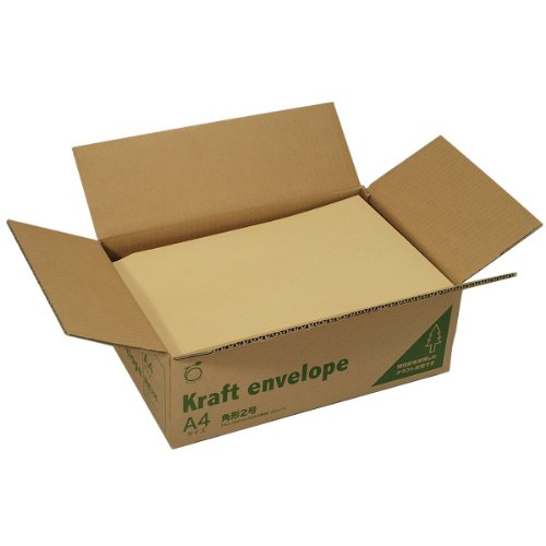 マルアイ 封筒 A4 角形2号 角2 茶封筒 クラフト封筒 間伐材 500枚 K-28K