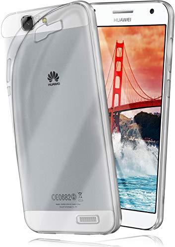 moex Aero Hülle für Huawei Ascend G7 - Hülle aus Silikon, komplett transparent, Handy Schutzhülle Ultra dünn, Handyhülle durchsichtig - Klar