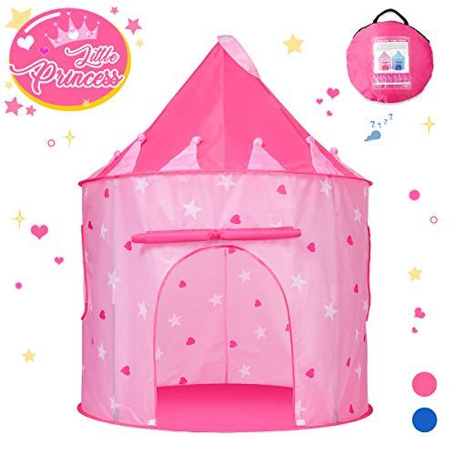 Teaisiy Geschenk Mädchen 2 3 4 5 6 Jahre,Kinderzelt Spielzeug ab 2-6 Jahre Mädchen Spielzelt Mädchen Zelt Kinderzimmer Spielhaus für Kinder Mädchen Spielzeug 2 3 4 5 6 Jahre Tippi Kinderzelt