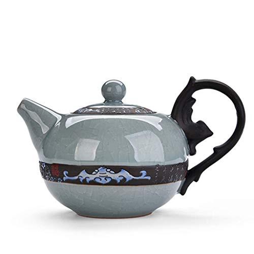SGSG Bouilloire électrique Bouilloire à thé en céramique Haute résistance Finition Mate Lisse Thé/café léger, capacité de 220 ML Profitez de la Tradition du thé