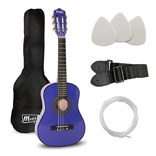 Music Alley Junior Guitarra acústica clásica de niños, color Azul