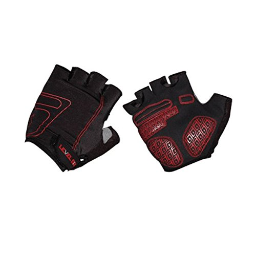 Level Six Cascade Glove - Fingerless Lycra Glove with Gel on Palm, Small, Black